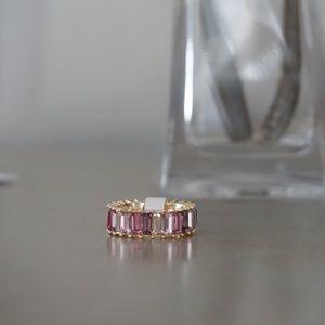 S925 multicoloured eternity ring